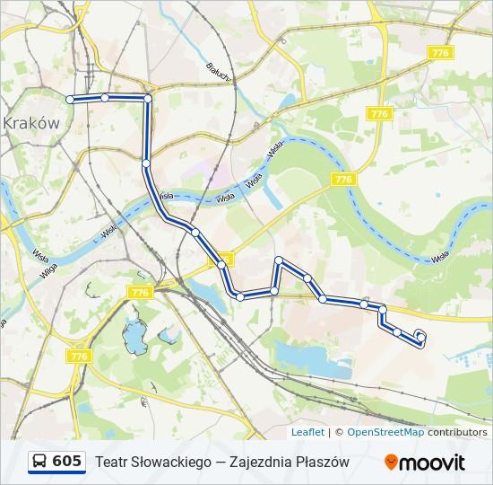 Linia 605 Rozklady Jazdy Przystanki I Mapy Zajezdnia Plaszow