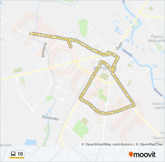 Linia 10 Rozklady Jazdy Przystanki I Mapy