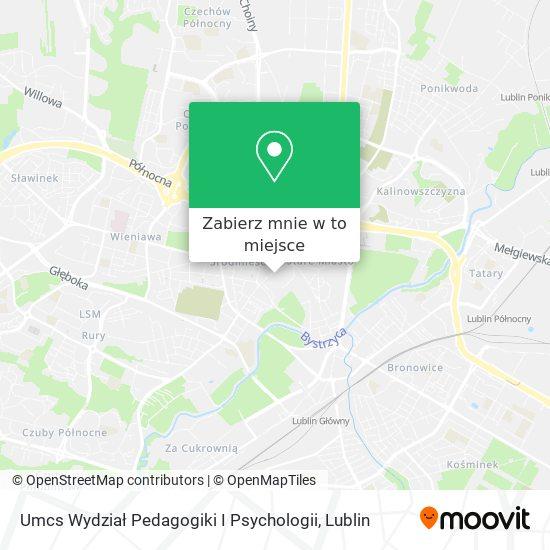 Mapa Umcs Wydział Pedagogiki I Psychologii