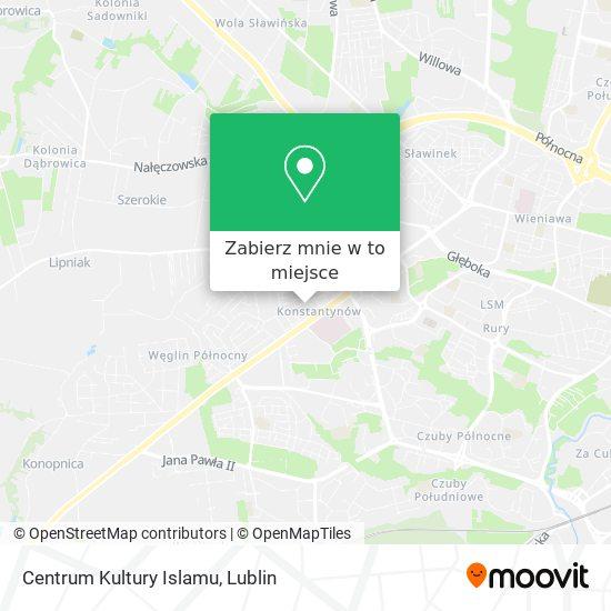 Mapa Centrum Kultury Islamu