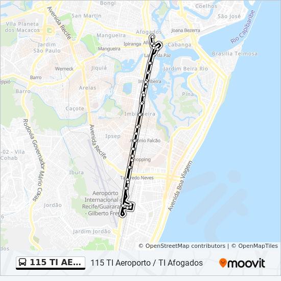 Rota Da Linha 115 Ti Aeroport Horarios Estacoes E Mapas