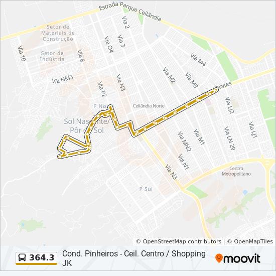 rota da linha 364 3 horários estações e mapas