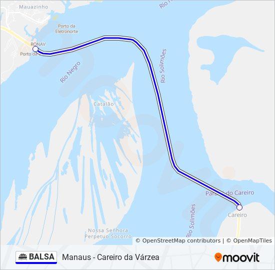 BALSA Route: Time Schedules, Stops & Maps - Careiro Da Várzea - Manaus