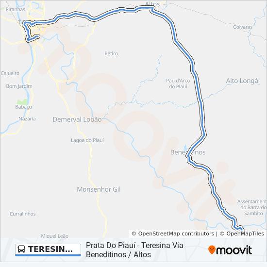 Estaca De Bares Mapa.Linea Teresina Prata Via Beneditinos Horarios Mapas Y