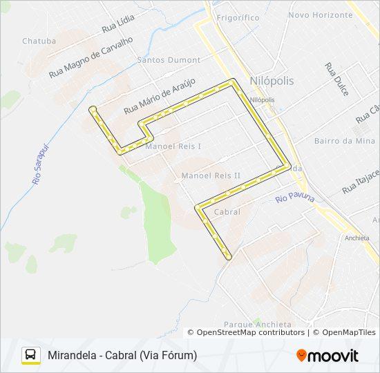 Rota Da Linha 001 Horarios Estacoes E Mapas Cabral Desvio