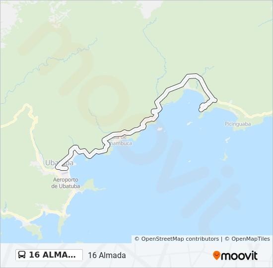 Rota Da Linha 16 Almada Horarios Estacoes E Mapas Almada Via