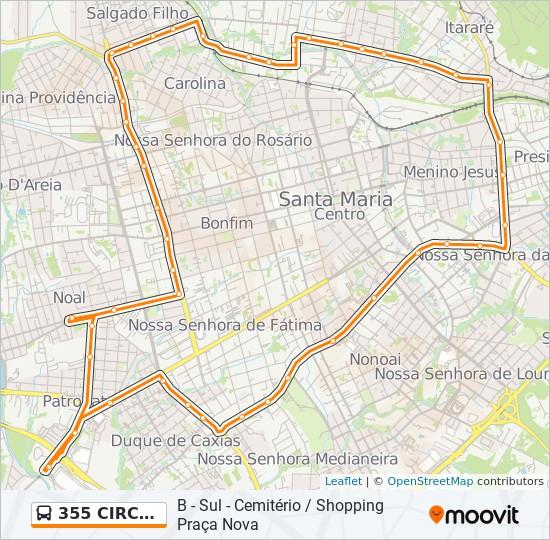 d9be42b2edba6a Rota da linha 355 CIRCULAR: horários, estações e mapas - B - Sul ...