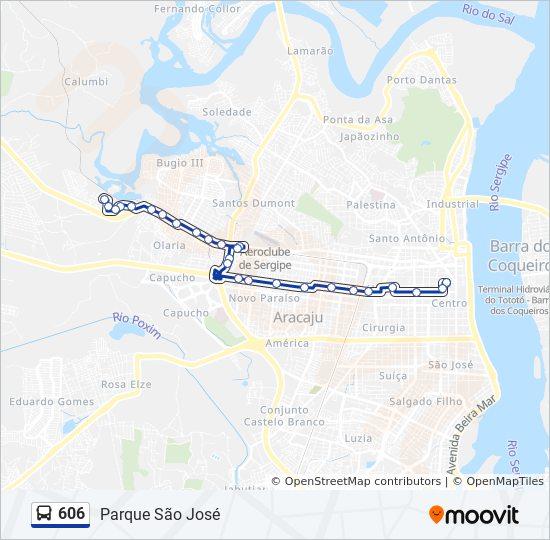 606 Reitti Aikataulut Pysakit Kartat Parque Sao Jose