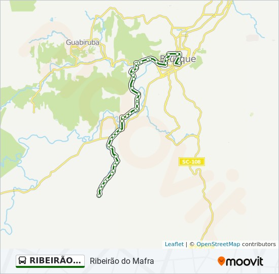 Rota Da Linha Ribeirao Do Mafra Horarios Estacoes E Mapas