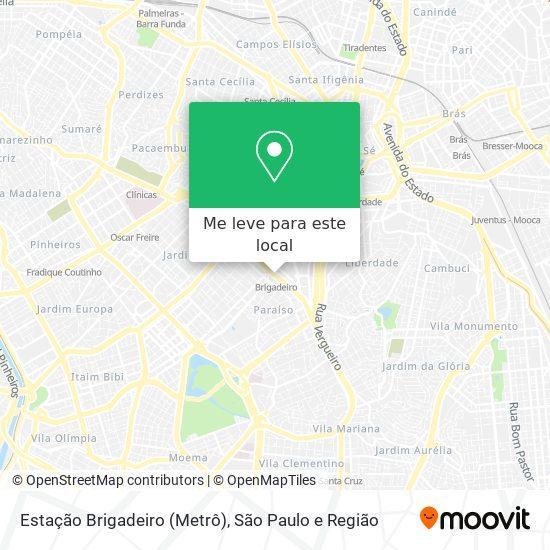 Estação Brigadeiro (Metrô) mapa