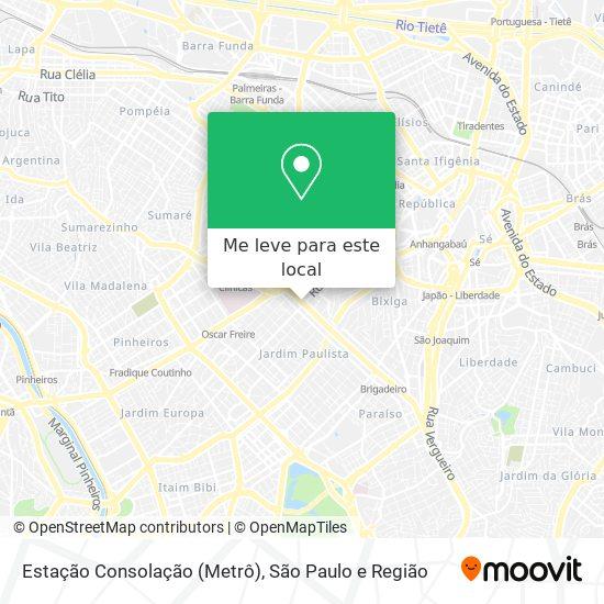 Estação Consolação (Metrô) mapa