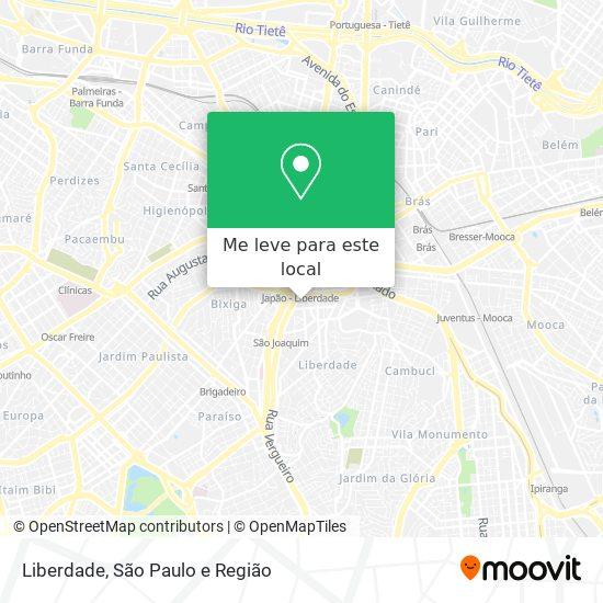 Liberdade mapa