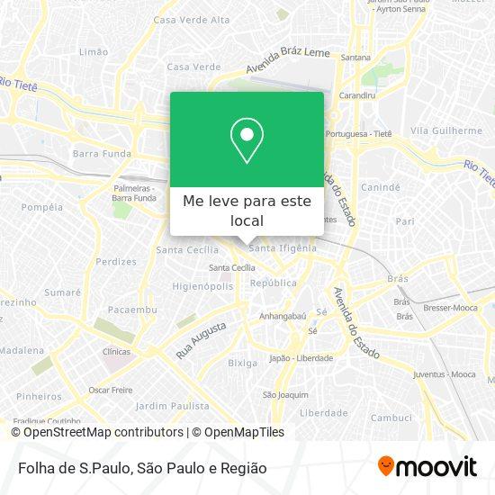 Folha de S.Paulo mapa