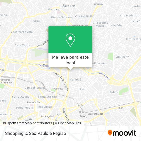 Shopping D mapa