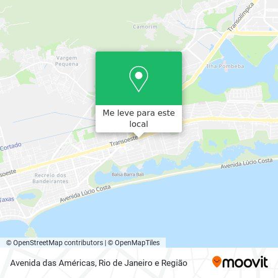 Avenida das Américas mapa