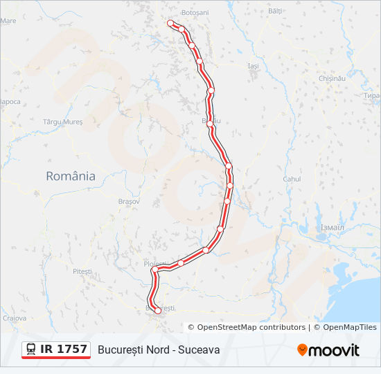 Ir 1757 Utvonal Menetrendek Megallok Es Terkepek București