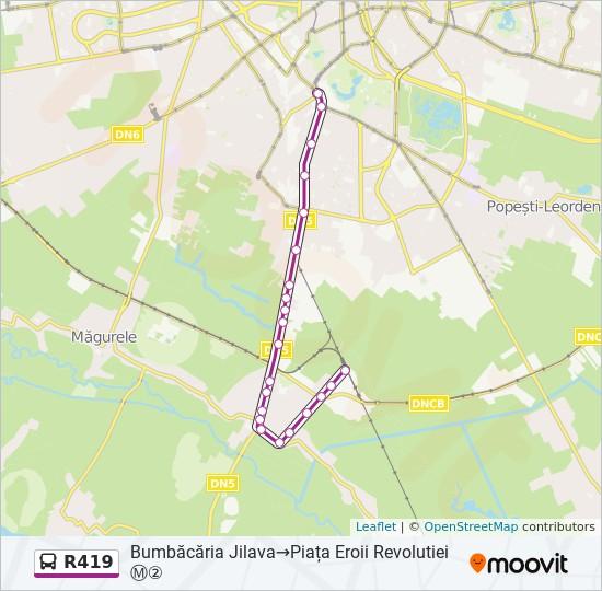 R419 Ruta Orare Stații și Hărți Bumbăcăria Jilava Piața
