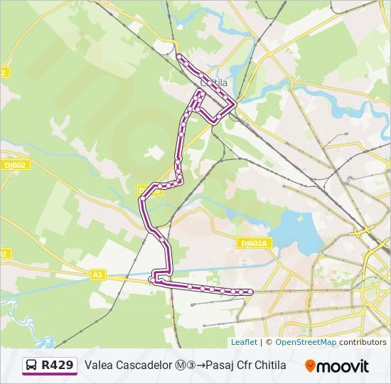 R429 Ruta Orare Stații și Hărți Valea Cascadelor Pasaj