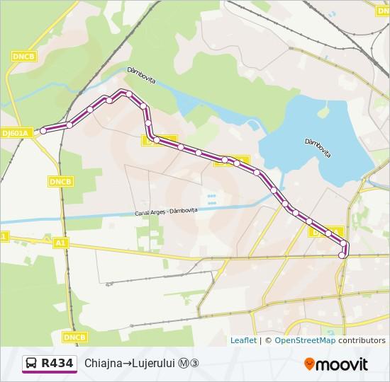 R434 Ruta Orare Stații și Hărți Chiajna Lujerului