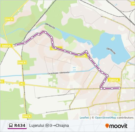 R434 Ruta Orare Stații și Hărți Lujerului Chiajna