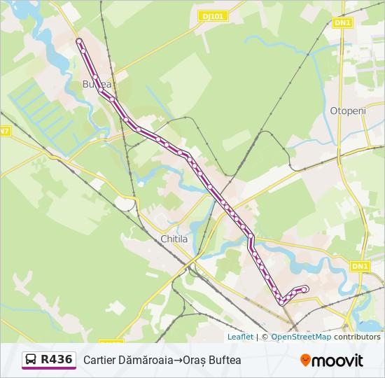 R436 Ruta Orare Stații și Hărți Cartier Dămăroaia Oras Buftea