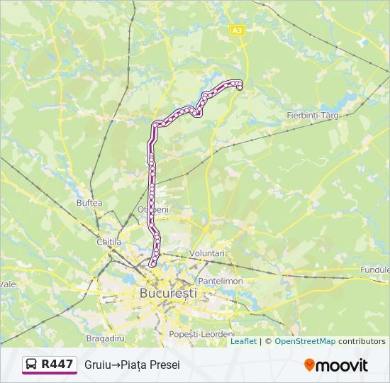 R447 Ruta Orare Stații și Hărți Gruiu Piața Presei