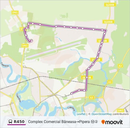 R450 Ruta Orare Stații și Hărți Complex Comercial Băneasa