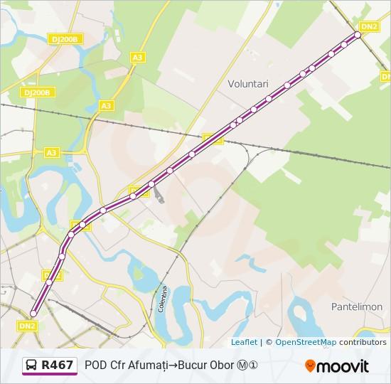 R467 Ruta Orare Stații și Hărți Pod Cfr Afumați Bucur Obor