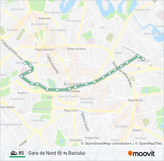 85 Ruta Orare Stații și Hărți Baicului Gara De Nord