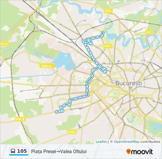 105 Ruta Orare Stații și Hărți Piața Presei Valea Oltului