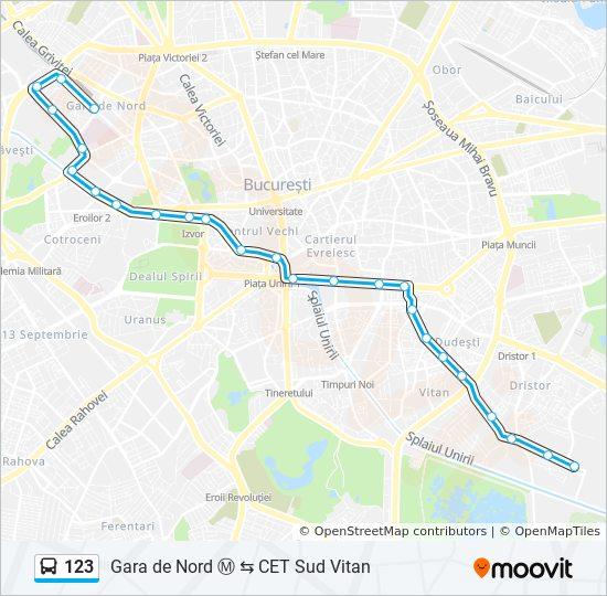 123 Route Time Schedules Stops Maps Cet Sud Vitan Gara De