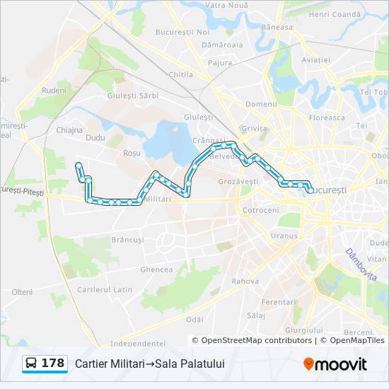 178 Route Time Schedules Stops Maps Cartier Militari Sala
