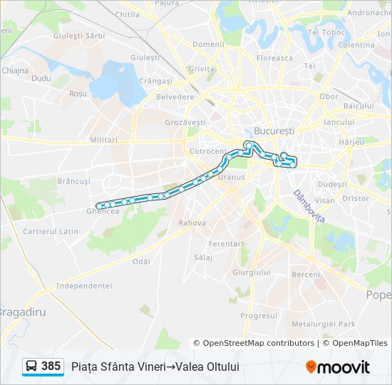 385 Ruta Orare Stații și Hărți Piața Sfanta Vineri Valea Oltului