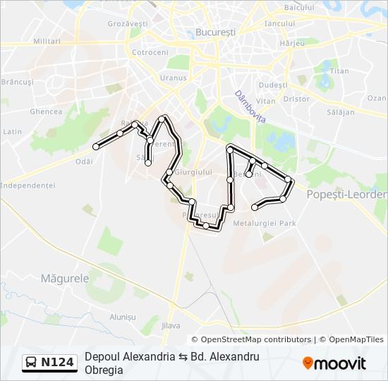 N124 Ruta Orare Stații și Hărți Depoul Alexandria Bd