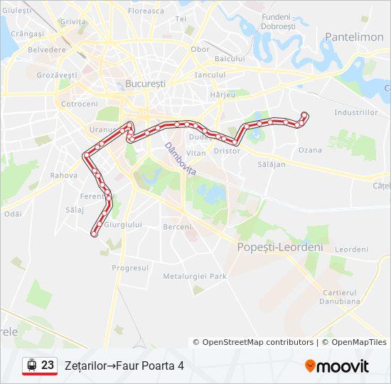 23 Route Time Schedules Stops Maps Zețarilor Faur Poarta 4