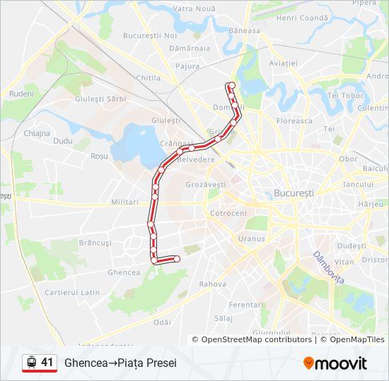 41 Ruta Orare Stații și Hărți Ghencea Piața Presei
