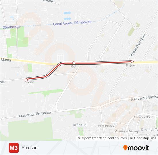 M3 Route Time Schedules Stops Maps Preciziei