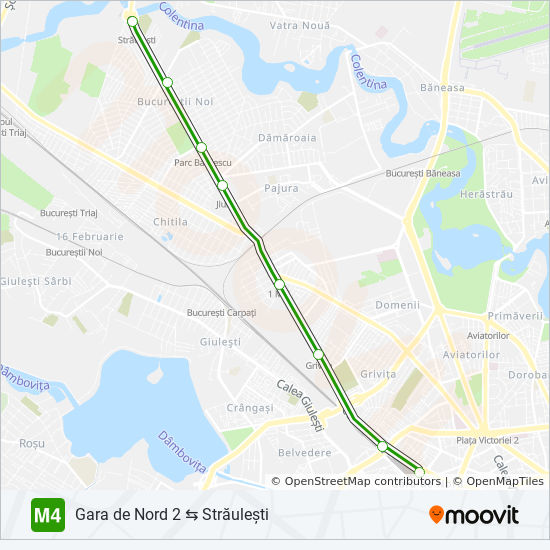 M4 Route Time Schedules Stops Maps Gara De Nord 2