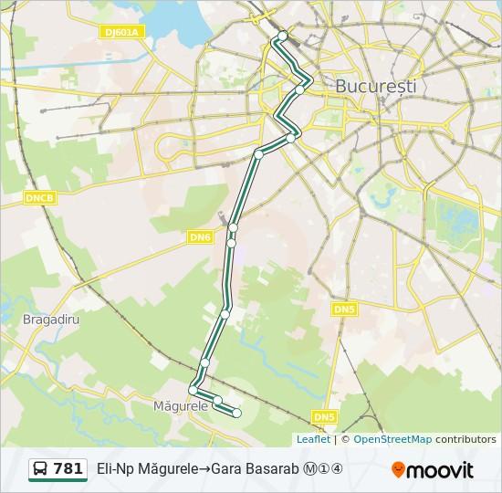 781 Route Time Schedules Stops Maps Eli Np Măgurele Gara