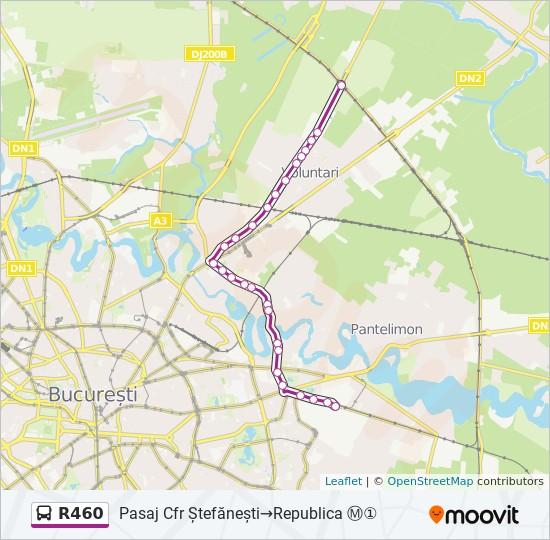 R460 Ruta Orare Stații și Hărți Pasaj Cfr ștefănești