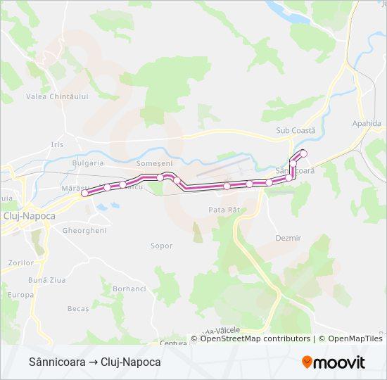 M42 Ruta Orare Stații și Hărți Sannicoara Cluj Napoca