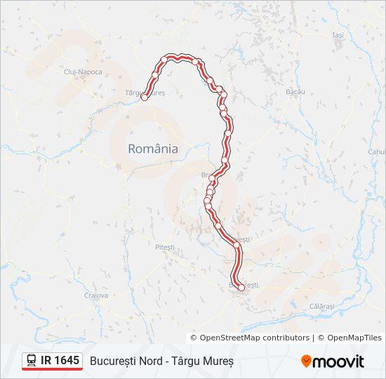 Ir 1645 Utvonal Menetrendek Megallok Es Terkepek București