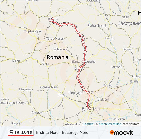 Ir 1649 Ruta Orare Stații și Hărți Bistrița Nord București Nord