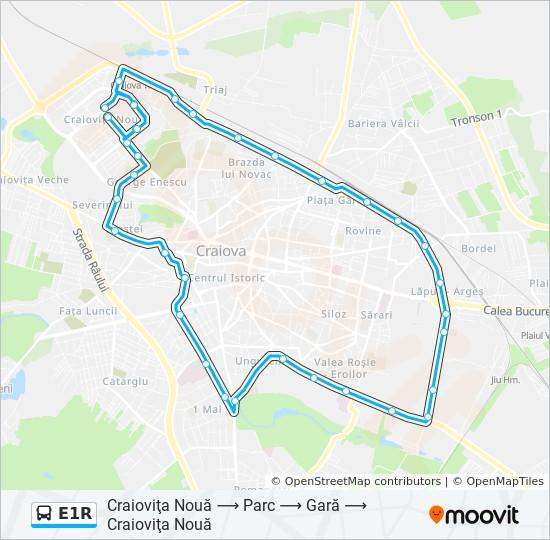 E1r Ruta Orare Stații și Hărți Craioviţa Nouă Parc Gară
