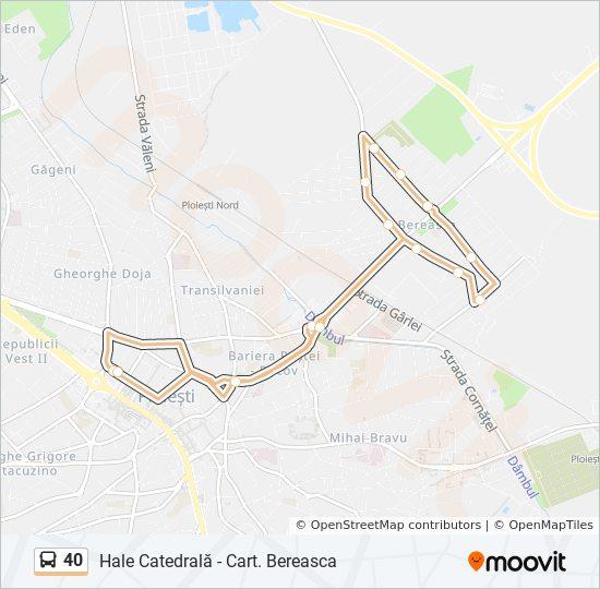 40 Ruta Orare Stații și Hărți Hale Catedrală Cart Bereasca