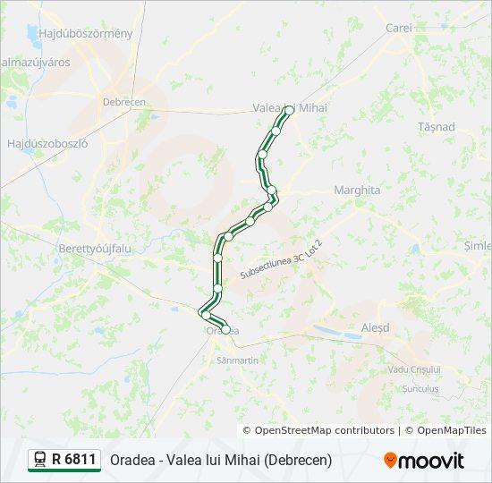 R 6811 Utvonal Menetrendek Megallok Es Terkepek Oradea Valea