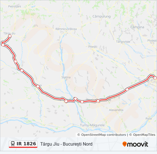 Ir 1826 Route Time Schedules Stops Maps Targu Jiu
