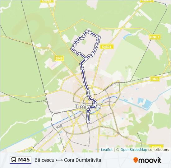 M45 Route Time Schedules Stops Maps Agronomie Cora Dumbrăvița