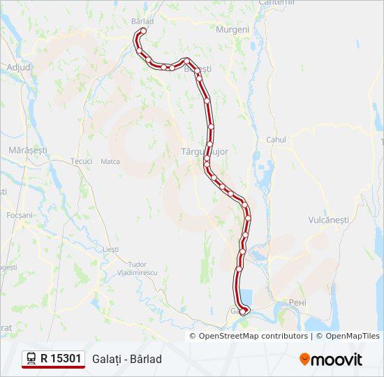R 15301 Ruta Orare Stații și Hărți Galați Barlad