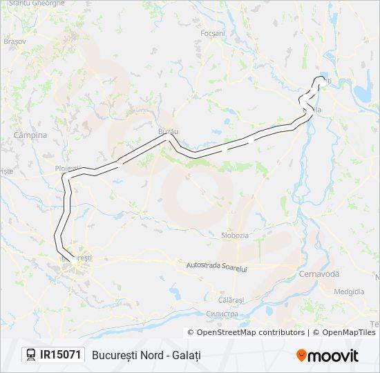 Ir15071 Ruta Orare Stații și Hărți București Nord Galați